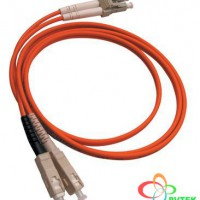 AMP Fiber Optic Cable Assembly, Duplex LC, OM3, 3m