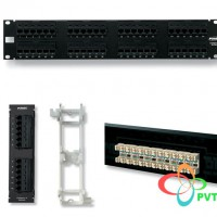 AMP Category 5e Patch Panel, Unshielded, 24-Port, 110Connect