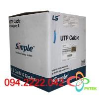 Cáp mạng Cat6 LS vina 4 pair UTP ( UTP-G-C6G-E1VN-M 0.5X004P/xx )